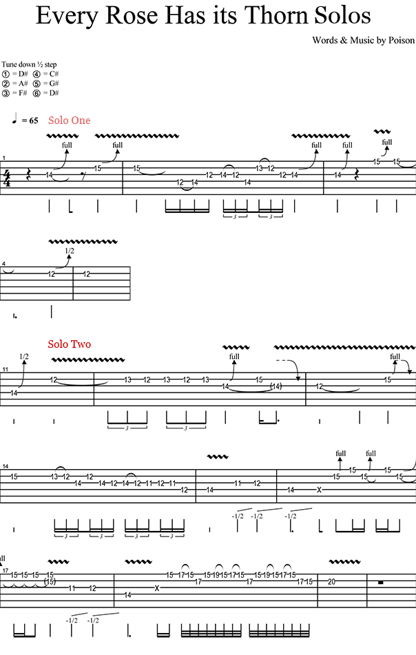 Every Rose has its Thorn Solo Lesson - Global Guitar Network