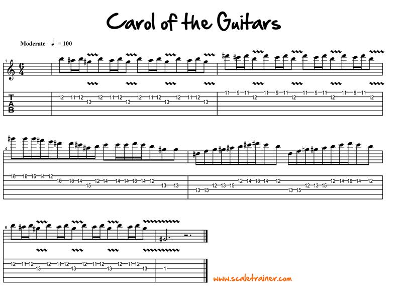 Carol Of The Bells Guitar Lesson Global Guitar Network